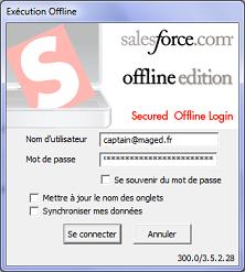 connexion salesforce offline edition
