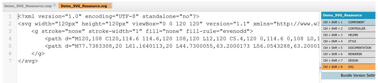 Ressource SVG dans Dev Console