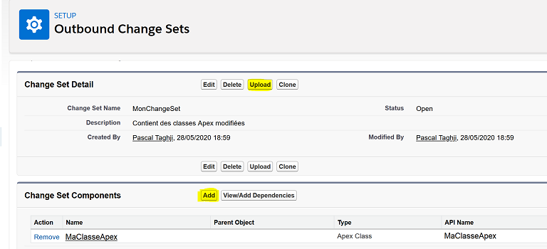 Add Components to change set