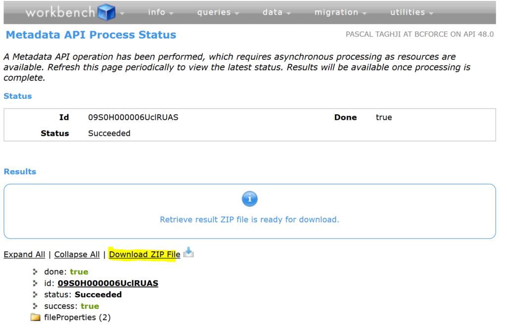Workbench Download ZIP
